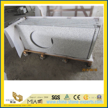 China Shandong White granite vanity top for bathroom --YYS015