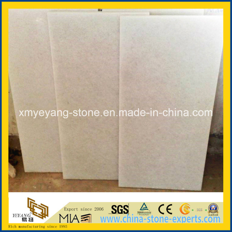 Crystal White Marble Floor Tile / Cut-to-Size for Project