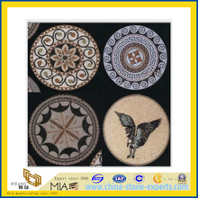 Marble Stone Mosaic Medallion/Waterject for Flooring (YQZ-M)