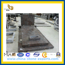 Polished Red Granite Tombstone for Cemetery (YQZ-MN)