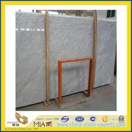 Carrara White Stone Marble Slab for Countertop Vanitytop and Stairs