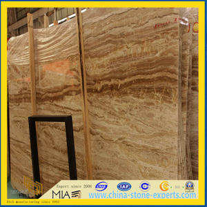 Natural Beige Travertine for Floor Tile, Mosaic Tile or Fireplace(YQT)