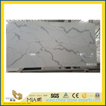 Calacatta White Quartz Slabs for Kitchen Tops, Vanity Tops