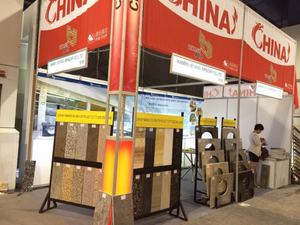 Stone Fair:Xiamen Yeyang Stone Factory ——Booth in Coverings on 2014
