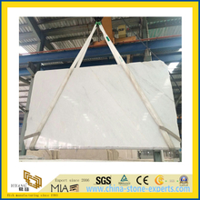 Polished Natural Stone Castro White Marble Slabs for Countertop/Vanitytop (YQC)