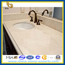 Polished White Natural Stone Marble Bathroom Vanity Top (YQZ-MC)