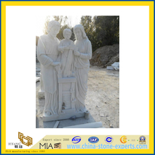 White Marble Art Animal Carving Statue Sculpture for Garden Decoration(YQG-LS1007)