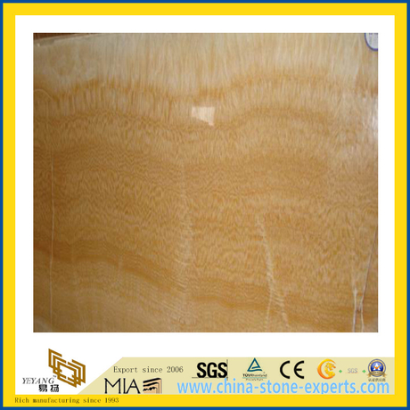 Polished Stone Honey Onyx Marble Slabs for Countertop/Vanitytop (YQC)