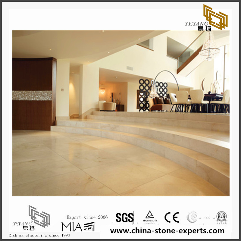 Background is installed with Crema Marfil marble(YQN-090807)