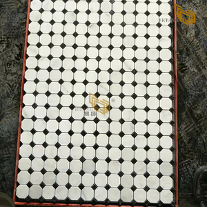 China Quality Polished Carrara White Marble Mosaic for Floor Tile