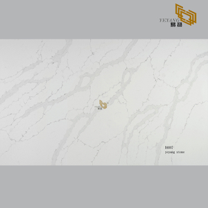 White quartz slab suppliers for custom quartz vanity tops(B4007)