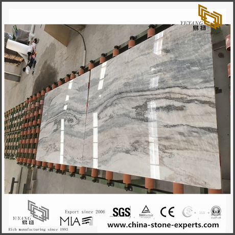 Custom Vemont Grey Marble for Wall Backgrounds & Floor Tiles (YQW-MS090703)