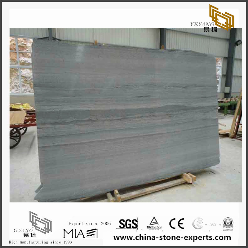 White Wooden Gain Marble/ Grey Wooden Gain Marble for Wall Backgrounds & Floor Tiles(YQN-092304)