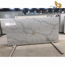 Grey vein quartz tiles artificial stone slabs countertops wholesale - E1006