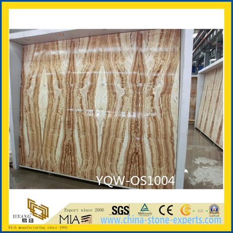 Yellow Tara Onyx Stone Slabs for Floor with Cheap Cost