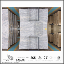 Diy New Vermont Grey Marble Slab for Kitchen & Bathroom Wall Tiles(YQW-MS311204)