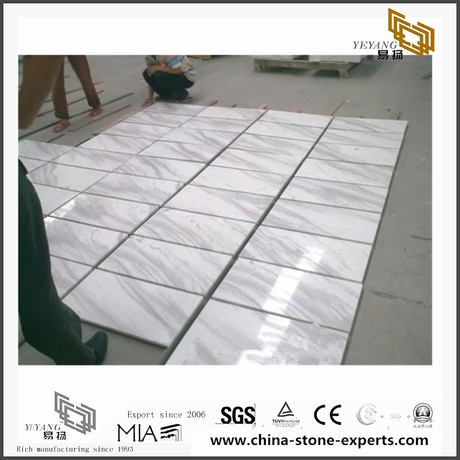 Beautiful Volakas White Marble Stone for Wall Backgrounds & Floor Tiles(YQN-092904)