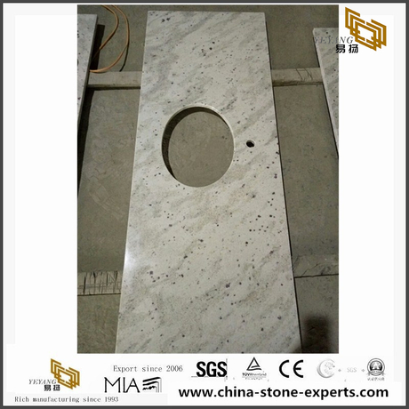 Andromeda White Granite Stone Bathroom Vanity Tops