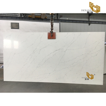Fine lines gery quartz with white bottom quartz slabs for engineering YH-3