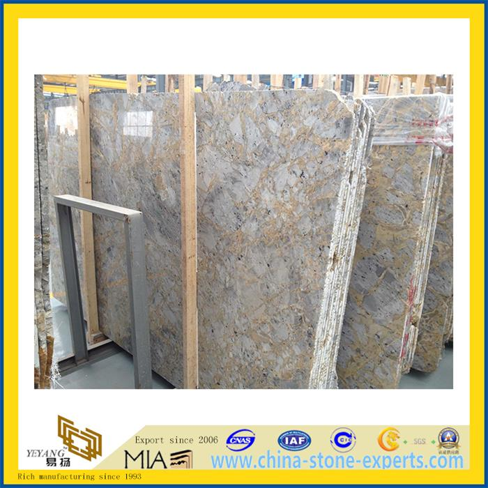 Turkey Gold Imperial Marble Slab for Flooring Decoration