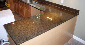 Brown High Glossy Home Office Quartz Stone Countertops