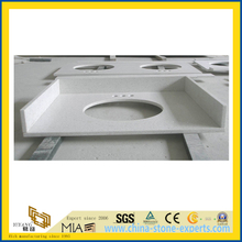 Pilished Artificial Stone White Quartz for Vanitytops and Countertop (YQC)