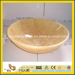 Natural Honey Onyx Lavabo for Luxury Hotel