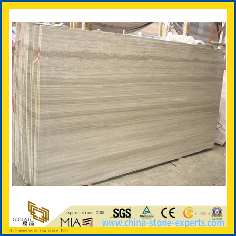 Polished Grey Wood Grainy Marble Slabs for Countertop/Vanity Top/Flooring