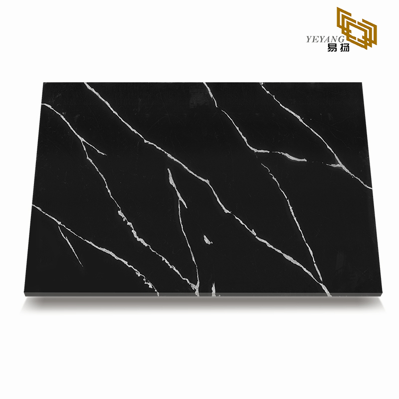 Black quartz countertops calacatta vanitytop for bathroom/kitchen/worktop(E1003)