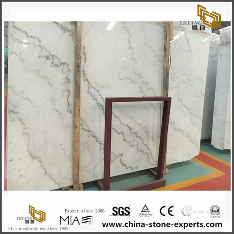 Cheap China White Marble Stone Slab Guangxi White Marble