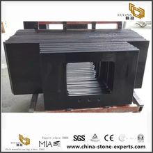 Cheap Wholesale Bathroom Black Quartz Vanity Tops