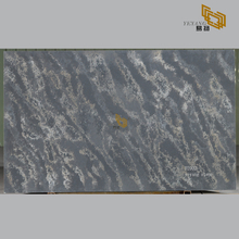 Dark grey quartz tiles stone slabs for kitchen countertops - D2002