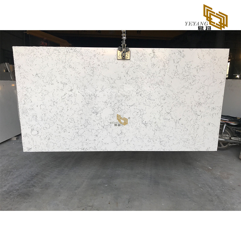 Quality white quartz slabs for stone countertops engineered project wholesale