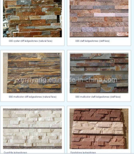 Wall Cladding Culture Stone/Stone Veneer (YY-Quartz Ledgestone Wall Panel)