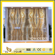 Polished Yellow Onyx Stone Slabs for Floor with Cheap Cost