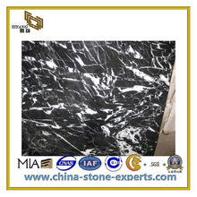 Polished Pure Black Marble Slab for Countertop/Bathroom(YQC)