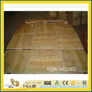 Polished Yellow Honey Onyx Floor Tile for Hotel Flooring Decoration