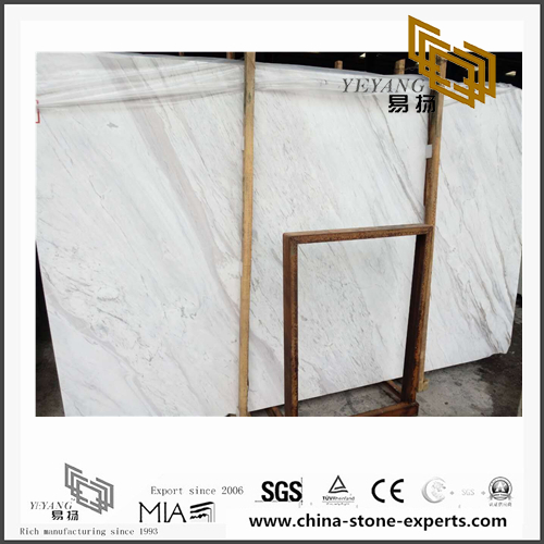 Luxury New Volakas White Marble Slabs for Bathroom Decoration (YQN-101102)