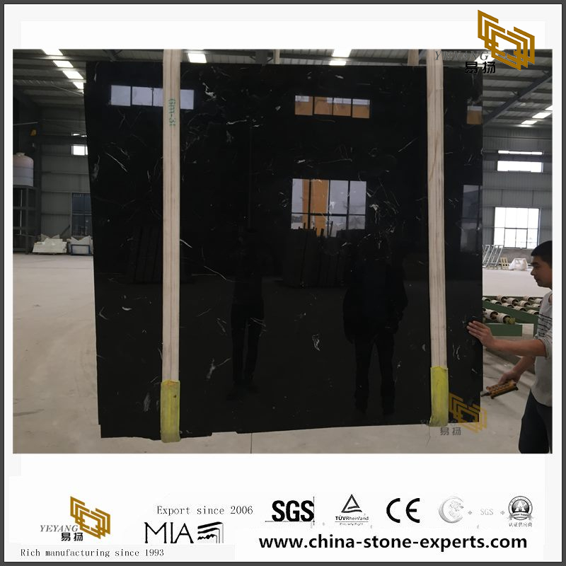 New Exclusive Black Ice Flower Marble Slabs for Home Decor with cheap price