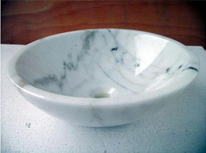 China Calacatta White Marble Stone Basin Project -YEYANG STONE FACTORY
