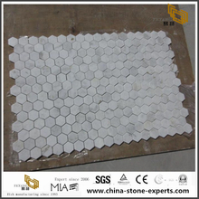 China Carrara White Marble Hexagon Mosaic Tile