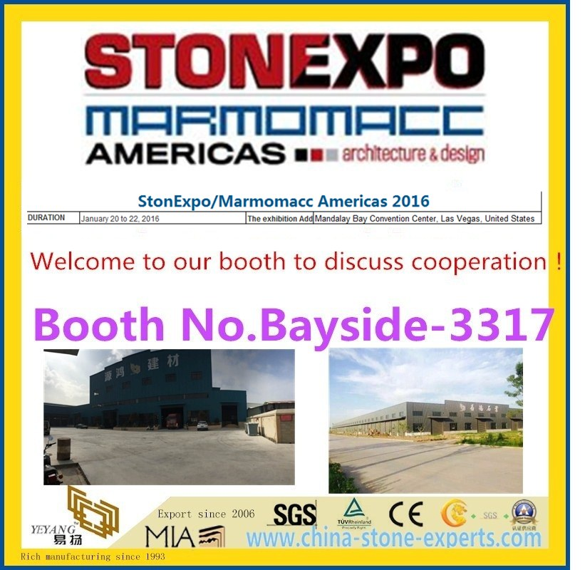 [2016 Stone Fair Booth NO.Bayside-3317] StonExpo/Marmomacc Americas 2016 from YEYANG Stone Group