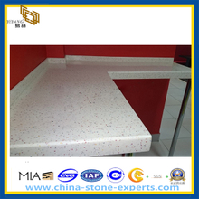 Artificial White Quartz Stone Kitchen Countertop (YQZ-QC)