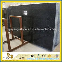 Crystal Black Artificial Quartz Stone Slab for Kitchentop or Countertop