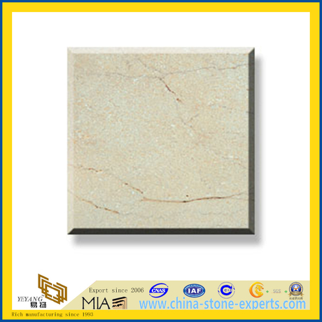 Polished Natural Stone Sahara Beige Marble Slabs for Wall/Flooring (YQC)