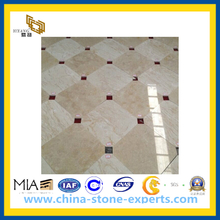 Polished Beige Marble Tiles for Floor Pattern(YQC)