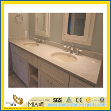 Natural Stone Polished Bathroom Carrara White Marble Vanitytop (YQC)