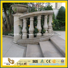 High Polished G682 Rusty Yellow Granite Balustrade and Handrail