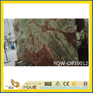 Polished Green/Red Natural Stone Onyx for Home Background