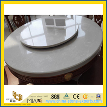 Prefabricate White Quartz Round Table Top for Dinner Room